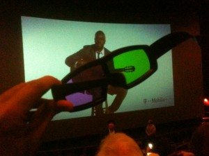 3D glasses used to watch the movie Avatar