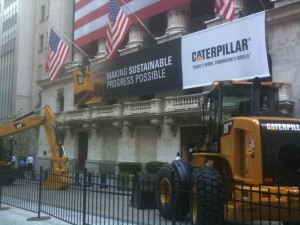Caterpillar vehicles by New York Stock Exchange