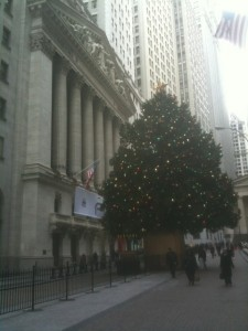 Christmas Tree in Downtown NYC